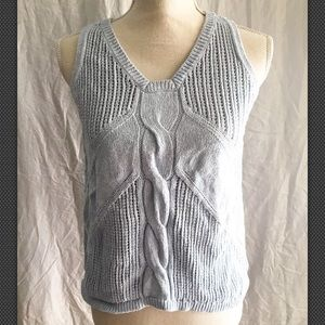 3/$30 Cabi silk blend cable knit tank